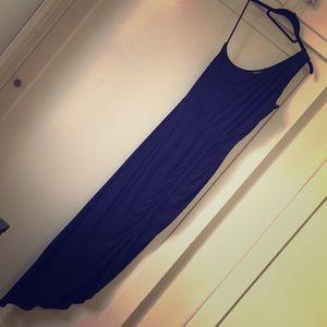 Bebe Black One Shoulder Dress with Slit
